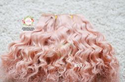 Mohair WEFT for Dolls, Curly hair for making dolls wigs, re-